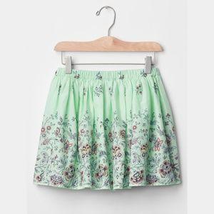 GAP Kids Flippy Skirt Rainshower Mint Green Floral